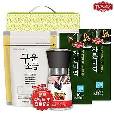 탑셰프 양념그라인더 구운소금300리필 미역10인분2P(4종)종이케이스
