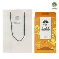[오설록] 제주 유채꿀 티백 20입+쇼핑백